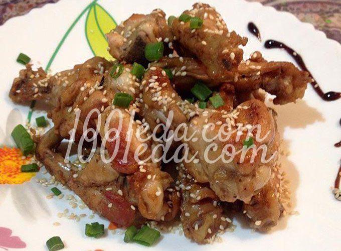Пряные крылышки-гриль по-корейски