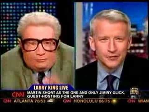 Jiminy Glick interviews Anderson Cooper
