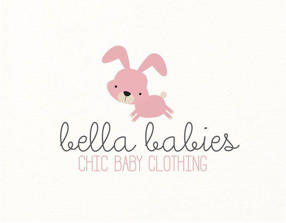 rabbit logo bunny baby babies children premade logo - Logo Design #302