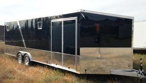 8.5 ' x 24 ' Aluminum Enclosed Car Trailer by Lightning