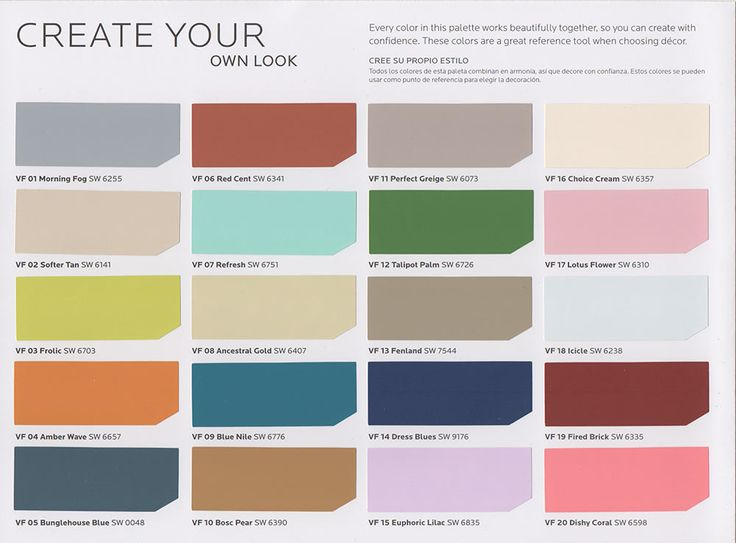 @Lowes New vintage paint color collection from Sherwin Williams + HGTV Home - Retro Renovation