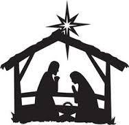 nativity scene silhouette printable - Google Search