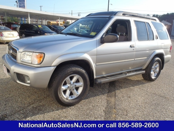 Model: 2004 Nissan Pathfinder   Price: $9,995   COLOR    Chrome Silver Metallic /Charcoal    MILES    135,893    Engine    3.5 ci    Trans    4-Speed A/T    Stock #    S041890    VIN    JN8DR09Y54W901890      If Interested call National Auto Sales today (856) 589-2600 Ask for Bill