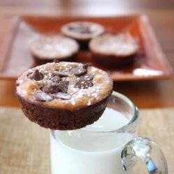 Pumpkin Cheesecake Bites with a triple ginger cookie crust. Are you ...