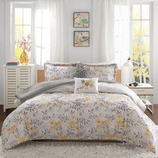 Intelligent Design Lucy Yellow 5-piece Comforter Set - Free Shipping Today - Overstock.com - 18416649 - Mobile