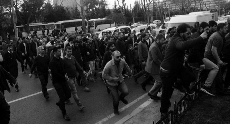 Hizb-ut Tahrir üyesi iki kişi için emniyet önüne giden 200 kişilik grup gözaltına alındı