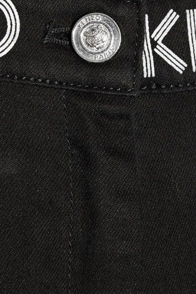 KENZO - Printed Mid-rise Skinny Jeans - Black - FR44