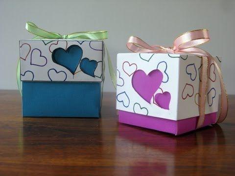 Caja regalo cuadrada - Montaje Pack 2003 SelfPackaging - YouTube