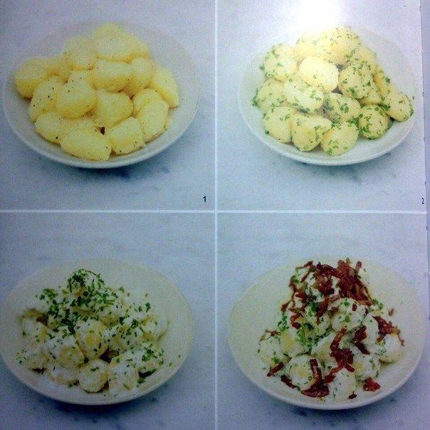 Картофельный салат с беконом от Джейми Оливера