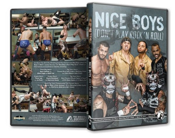 Pro Wrestling Guerrilla - Nice Boys Dont Play Rock n Roll Blu-Ray