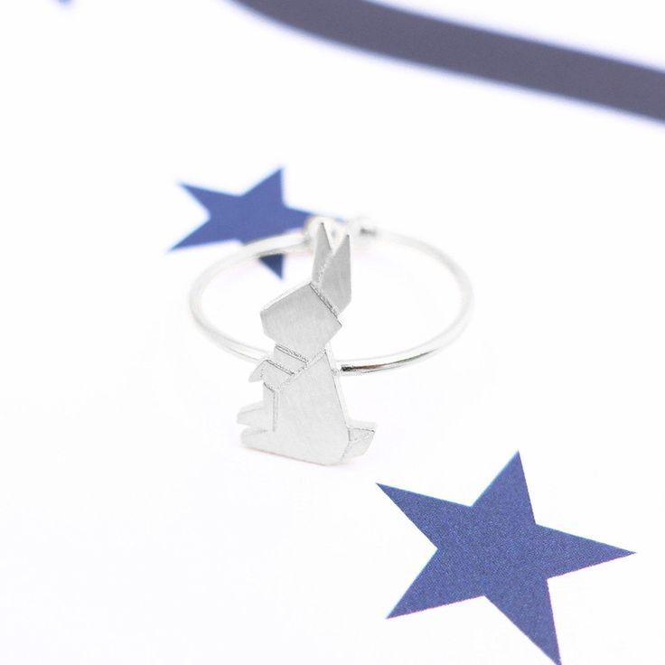 Lapin Origami Silver Ring - Majolie   - 1