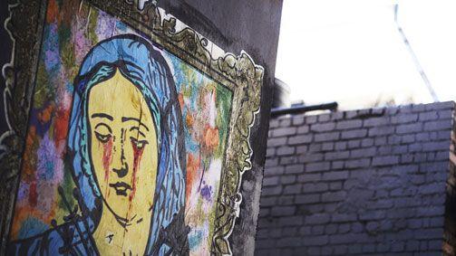 Public art in Hosier Lane, Melbourne, Victoria, Australia. Photo credit: Ben King
