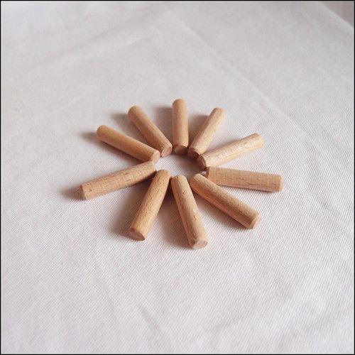 Dřevěné kolíky hladké (10 ks) ø8 - 35 mm