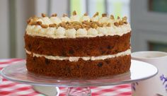Mary Berry sugar free carrot cake recipe on The Great British Bake Off Masterclass 2015