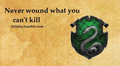 Never wound what you can't kill