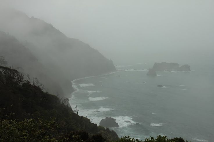 knights point ~ in the rain
