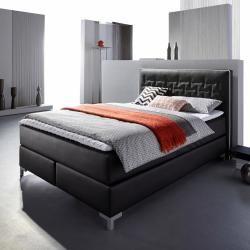 Inosign Boxspring-Bett »Coos«, 140x200 cm, schwarz InosignInosign