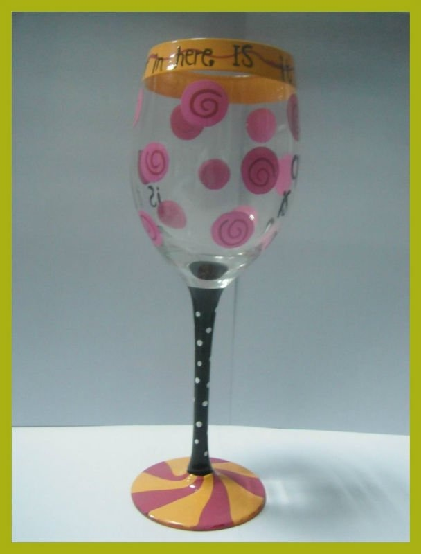 164 Best Painted Wine Glasses Images On Pinterest