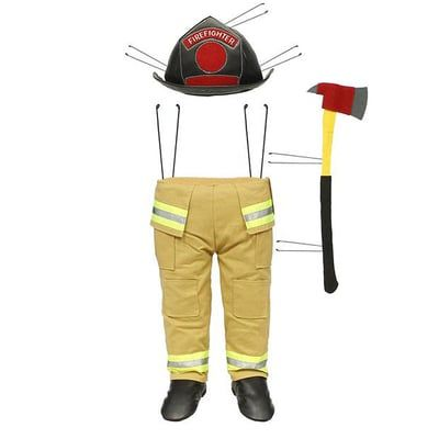 "Firefighter Wreath Decor Kit Material: Polyester, Wire Size: 28"" x 8.5"" Three Piece Kit - pieces have wires on back for attachment Color: Black, Yellow, Grey, Red"