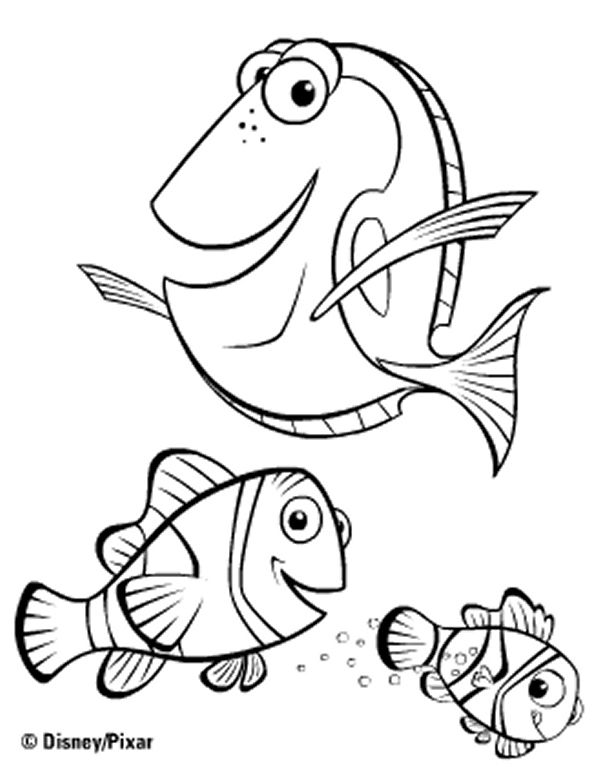 18 best coloring pages finding nemo images on pinterest for Nemo and friends coloring pages