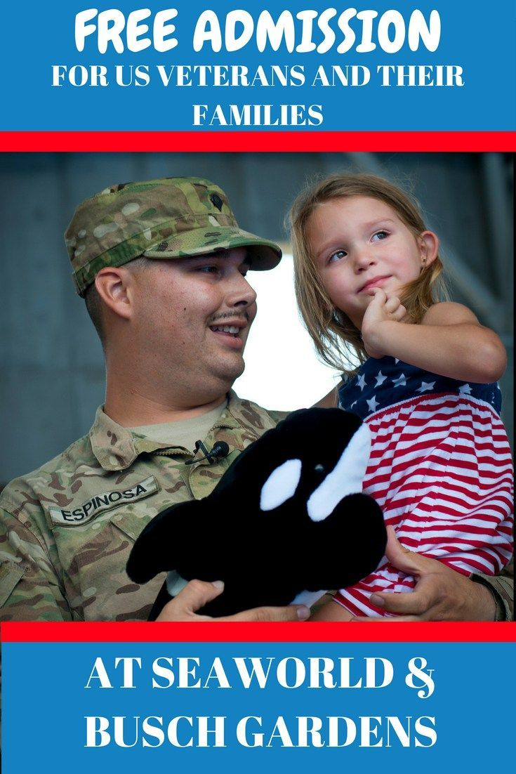 Seaworld And Busch Gardens Offer Free Admission To U S Veterans