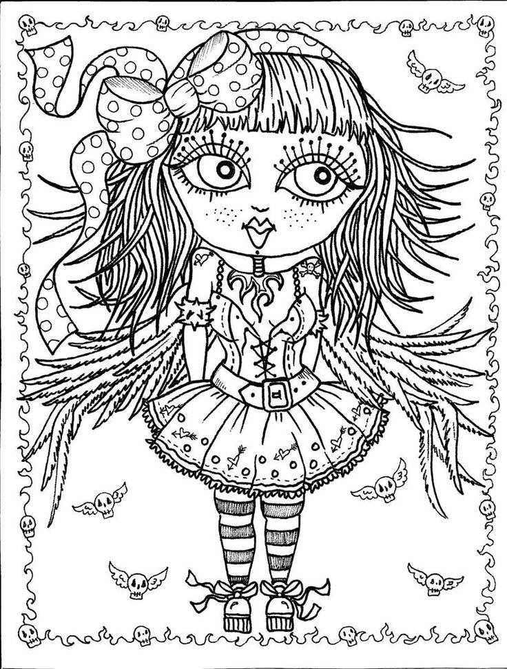 Instant Télécharger 5 pages Gothic Angels Art Digital