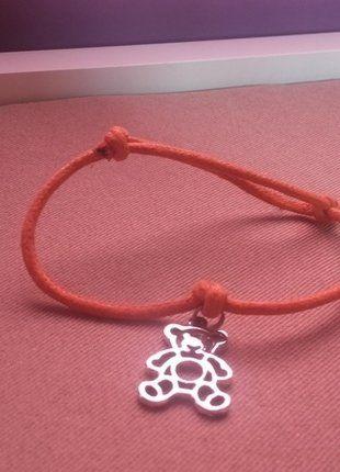 Kup mój przedmiot na #vintedpl http://www.vinted.pl/akcesoria/bizuteria/16659709-pomaranczowa-bransoletka-zawieszka-mis-typu-lilou