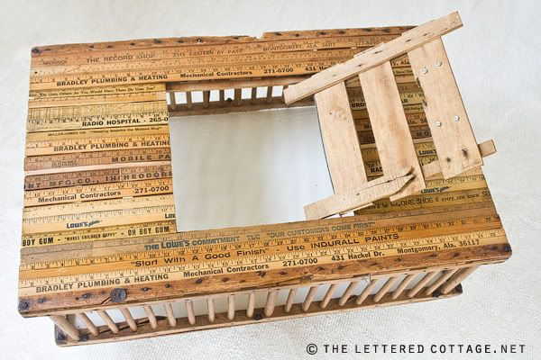 tutorial for chicken crate coffee table from #the lettered cottage