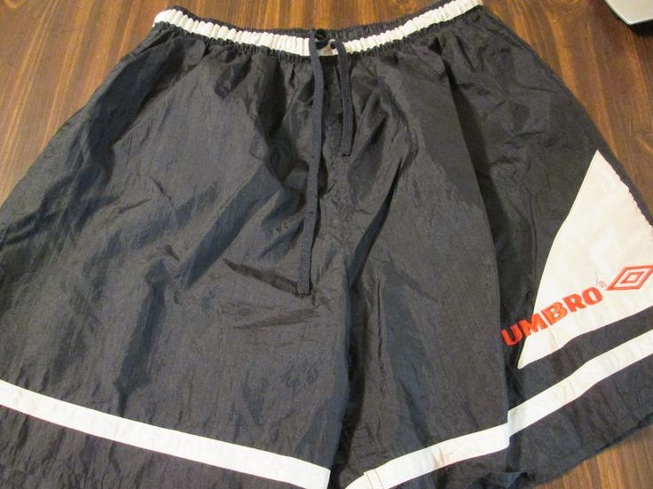 Vintage Umbro Black Thin Nylon Soccer Futball Shorts Large