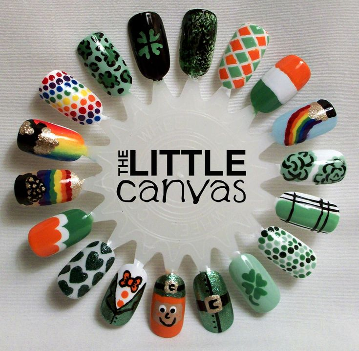 St. Patricks Day Nail Art Wheel - The Little Canvas