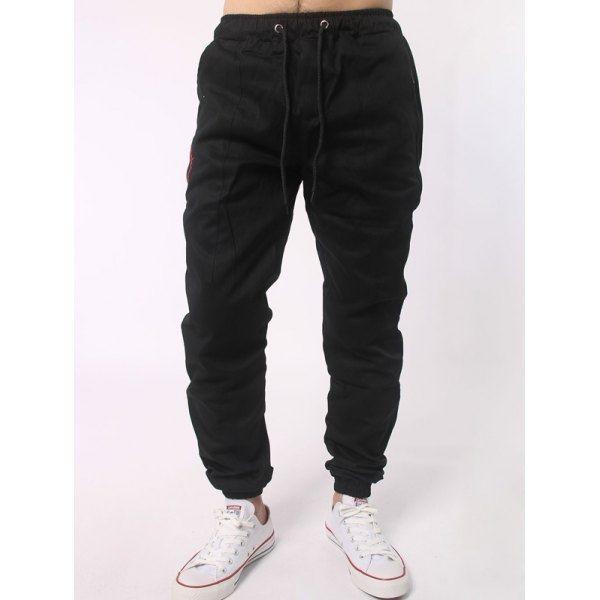 21.97$  Buy here - http://didxi.justgood.pw/go.php?t=199908701 - Drawstring Waist Spliced Beam Feet Jogger Pants