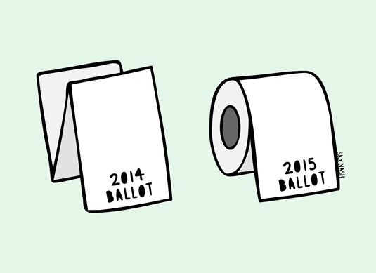 If you thought this year's ballot paper was long, just wait until next year…
