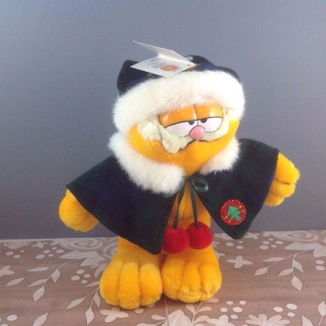 New Garfield Official Club Exclusive Plush Doll Toy Paw Company 1978 Christmas