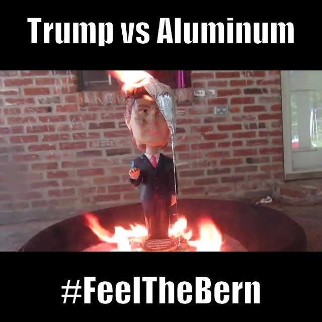 Who are you voting for? Trump or Aluminum? #politics #donaldtrump #aluminum #presidential #candidate #debate #news link to video in description!