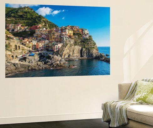 The Colorful Village of Manarola, Cinque Terre, Liguria, Italy Wall Mural by Stefano Politi Markovina at AllPosters.com