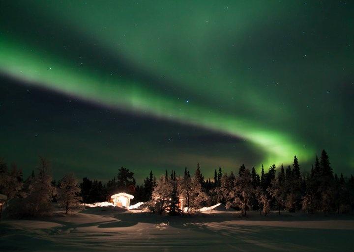 Aurora Borealis, Kiruna, Sweden - Photo taken by a friend! :)