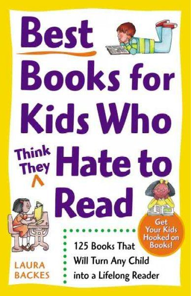 This book lists and discusses a number of books that kids will actually love to read. Each section has areas such as, if your child likes... and parent notes.