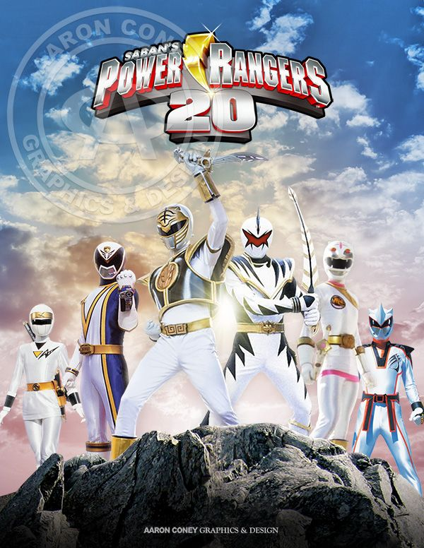 legendary White Power Rangers,  20th anniversary Power