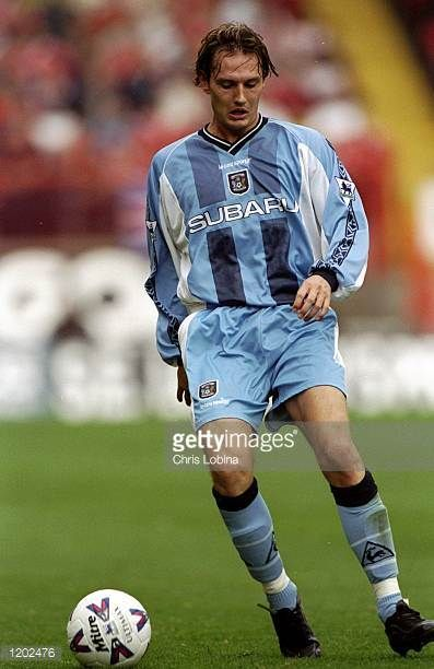 Noel Whelan of Coventry City in action during the FA Carling Premiership match against Charlton Athletic played at the Valley in London England The...