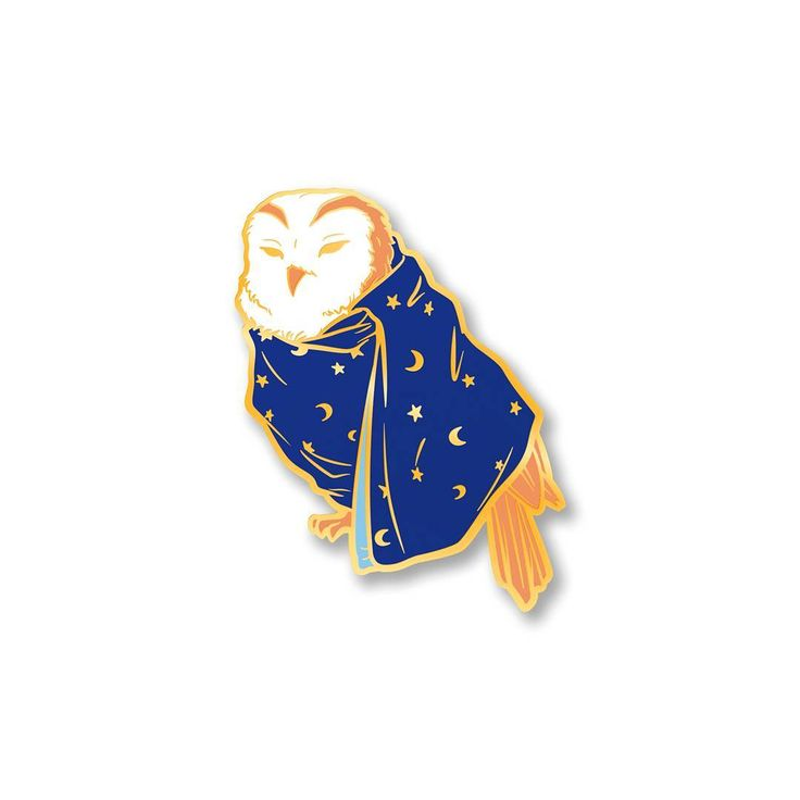 """Never put a blanket over an owl"" - Ross Noble. This sleepy owl pin is available for pre-order~! (link in bio) . . . #pin #enamelpin #pinstagram #pinsanity #lapelpin #hardenamel #pinsofig #pindesign #bird #owl #grumpy #cute #kawaii #etsysellers #etsy #etsyfinds #shopindie #pinmaker #pincollector #pincommunity #pincollection #pingame #pingamestrong #blanket #bedtime #sleepy"