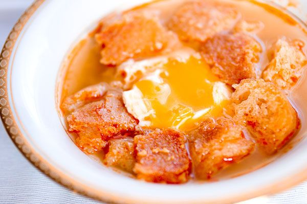 Sopa de Ajo (garlic soup) My mom use to make this when I was small ...