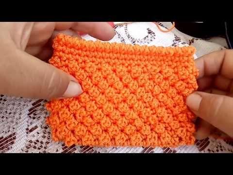 Monedero tejido en puntada de el chinito - YouTube