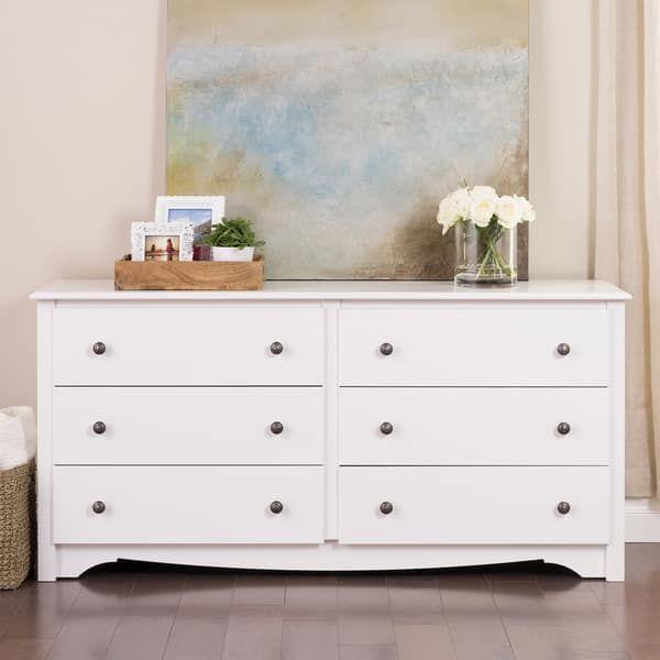 Prepac Monterey 6 Drawer Dresser With