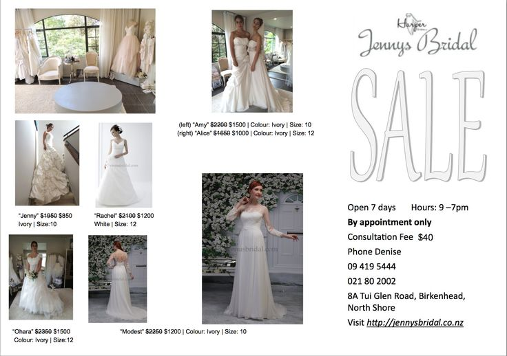 SALE Wedding Dresses at Jenny's Bridal! As low as $850!!!