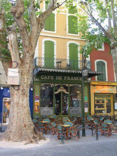 Cafe de France in l'Isle sur la Sorgue