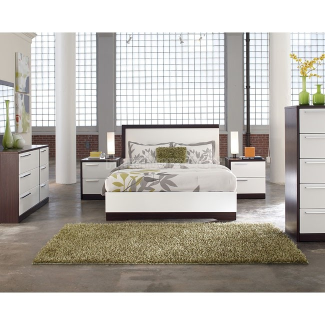 Low  modern  sleek  and clean  Love how the nightstands are built into the  bed frame. 12 best Metro Modern by Ashley Furniture images on Pinterest