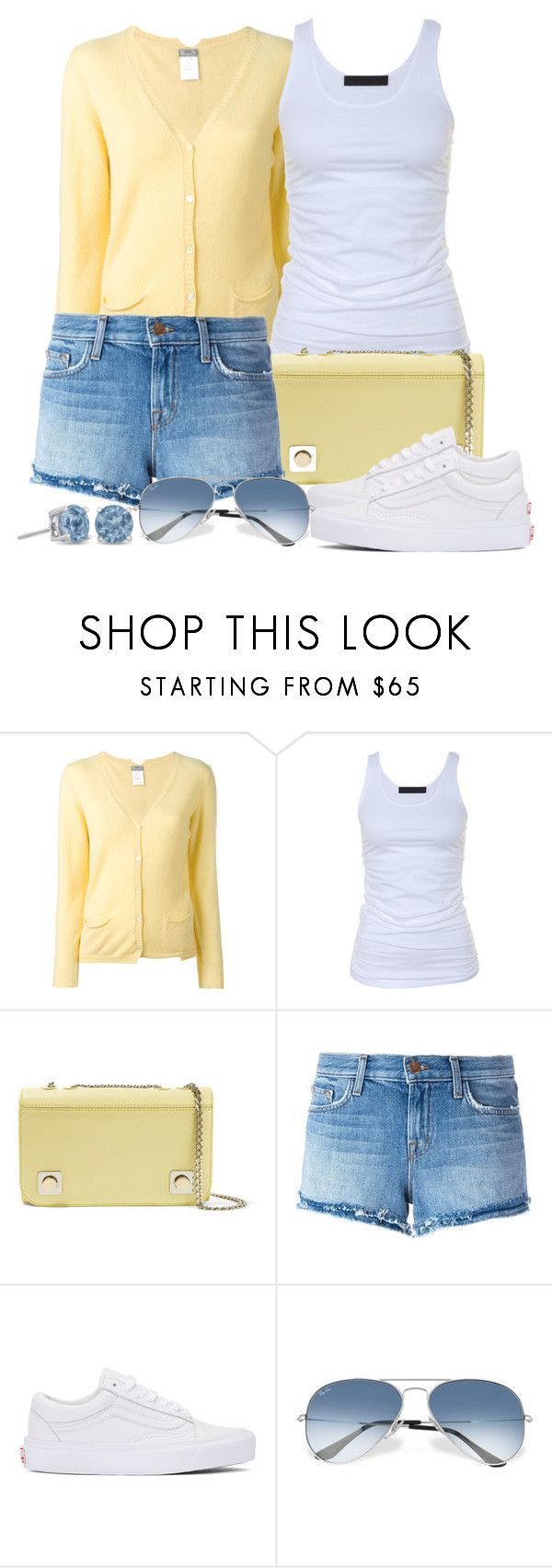 """""""Untitled #1458"""" by gallant81 ❤ liked on Polyvore featuring KristenseN du Nord, Tusnelda Bloch, Carven, J Brand, Vans and Ray-Ban"""