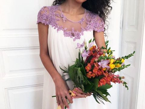 CRISTALLINI #CocktailDress #Prom #Silk #WhiteDress
