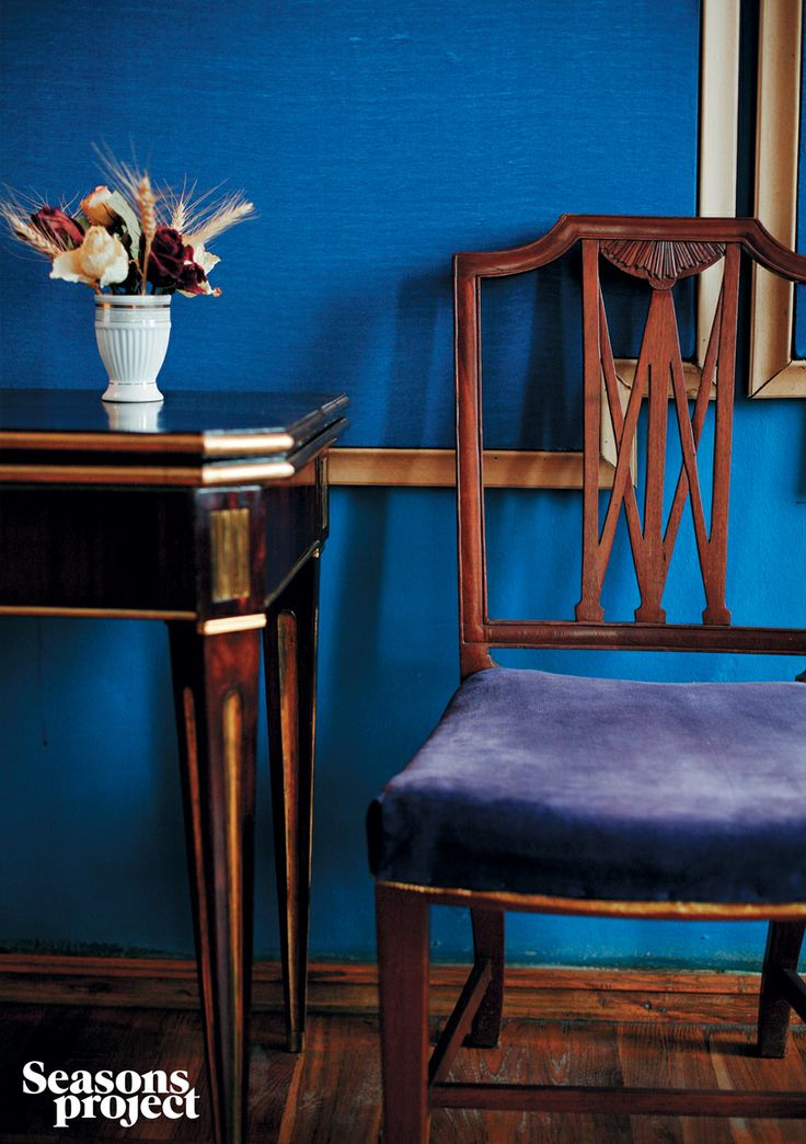 Seasons of life №10 / July-August issue. Богородицкое #seasonsproject #seasons #travel #Russia #blue #Богородицкое #interior #museum #chair