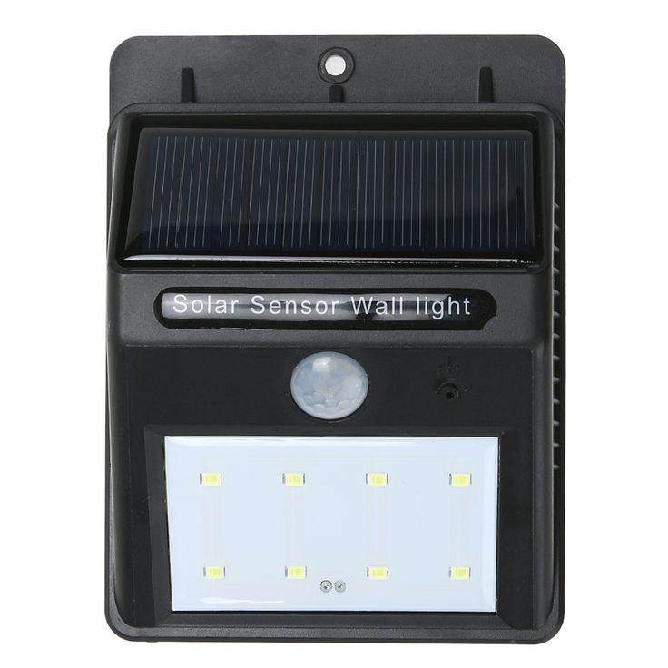 8 LED Security Solar Powered Light PIR Motion Sensor Light Path Wall Lamps Outdoor Garden Emergency Waterproof Lamp